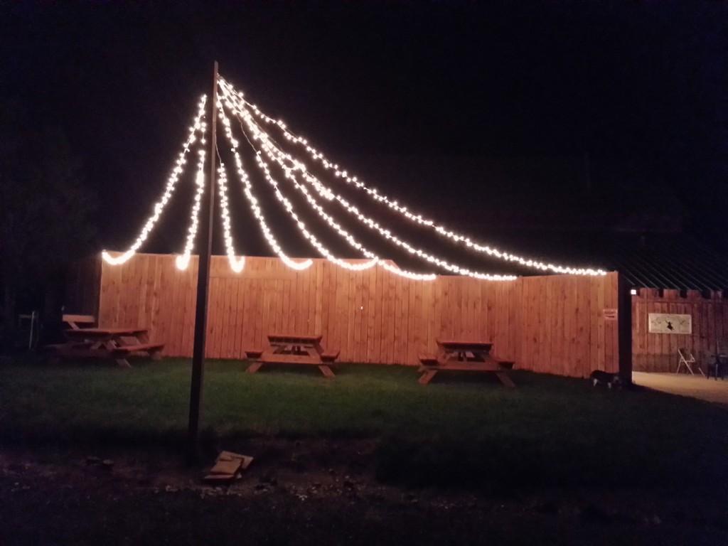 The Ten Sleep Brewing Co.'s outdoor bar-b-que & seating area.